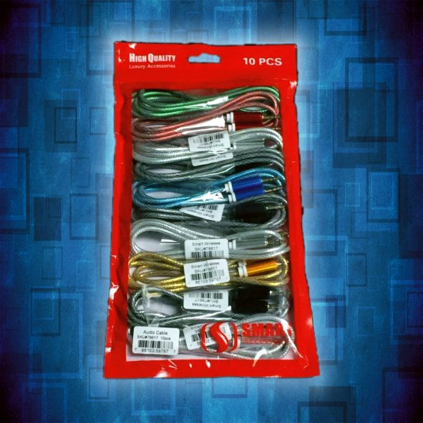 Single Aux cable 10 pack